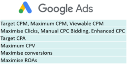 Transitioning from Google Ads to DV360 - Optimisation goals Google Ads